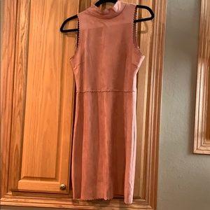 Soprano Dresses - Soprano blush suede mock neck dress